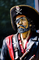 Pirates wear eye patches so that they can see in the dark.