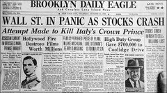 Causes of Great Depression (Black Thursday and Black Tuesday)