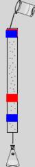 Draw column chromatography where A is more polar than B.
