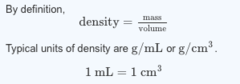 The density of iron is 7.87 g/mL. What is the mass of a 5.00 cm × 4.00 cm × 1.00 cm block of iron?