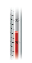 What is the temperature reading on the Celsius thermometer?    How many significant figures do you have in your answer?