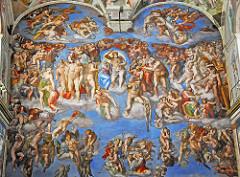 Italian Renaissance:  geometric arrangement, realism and emotionalism, idealized human forms
