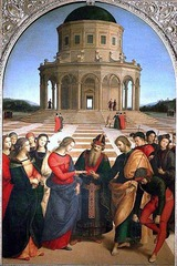 Italian Renaissance:  perspective (one-point), classicism (seen in architecture)
