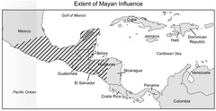 The Mayan culture spread throughout a large section of Central America.