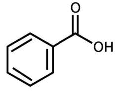 Benzoic acid molecular structure