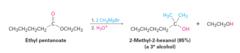 Esters + Grignard Reagent (in ether)