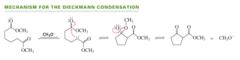 Mechanism for the intramolecular claisen (Dieckman)