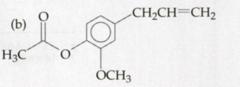 Molecular structure for eugenol acetate