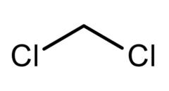 Molecular structure of dichloromethane