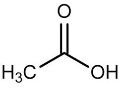 What does acetic acid look like?