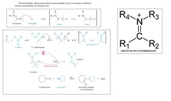 What is an iminium salt intermediate and give a mechanism?