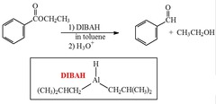 What reagent(s) will reduce an ester to an aldehyde?